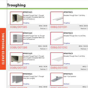 Elevated Troughing Product Catalogue
